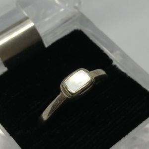 Mother Of Pearl Sterling Silver Inlay Ring